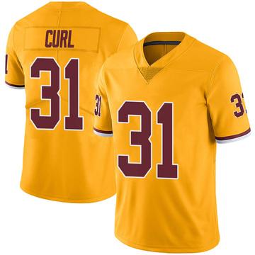 Youth Nike Washington Redskins Kamren Curl Gold Color Rush Jersey - Limited