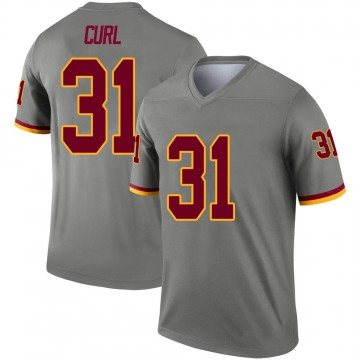 Youth Nike Washington Redskins Kamren Curl Gray Inverted Jersey - Legend