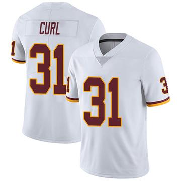 Youth Nike Washington Redskins Kamren Curl White Vapor Untouchable Jersey - Limited
