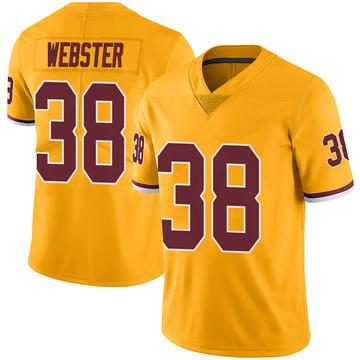 Youth Nike Washington Redskins Kayvon Webster Gold Color Rush Jersey - Limited