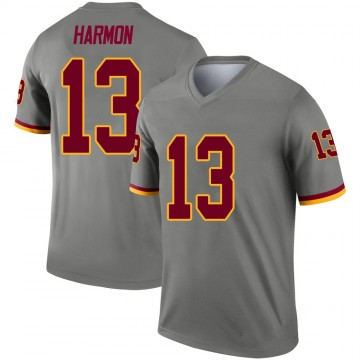 Youth Nike Washington Redskins Kelvin Harmon Gray Inverted Jersey - Legend