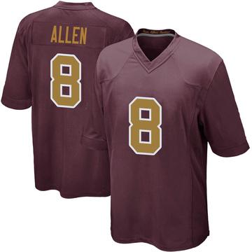 Youth Nike Washington Redskins Kyle Allen Burgundy Alternate Jersey - Game