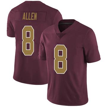 Youth Nike Washington Redskins Kyle Allen Burgundy Alternate Vapor Untouchable Jersey - Limited