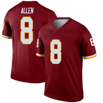 Youth Nike Washington Redskins Kyle Allen Burgundy Jersey - Legend
