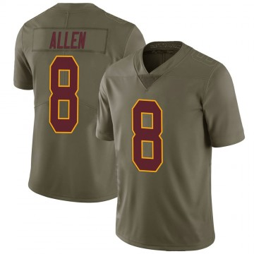 Youth Nike Washington Redskins Kyle Allen Green 2017 Salute to Service Jersey - Limited