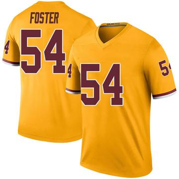 Youth Nike Washington Redskins Mason Foster Gold Color Rush Jersey - Legend