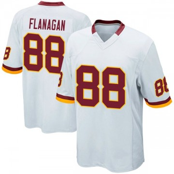 Youth Nike Washington Redskins Matt Flanagan White Jersey - Game