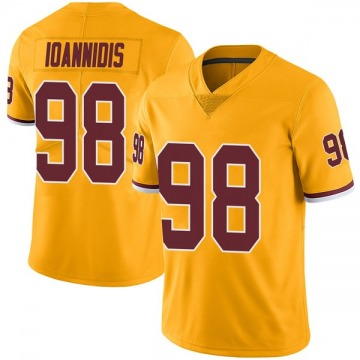 Youth Nike Washington Redskins Matt Ioannidis Gold Color Rush Jersey - Limited
