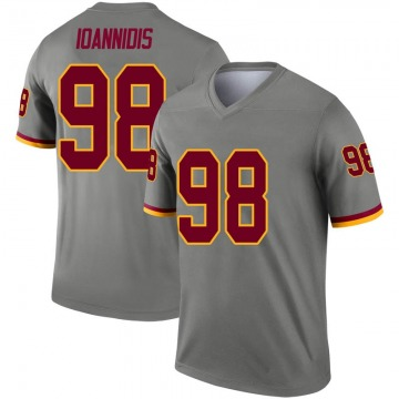 Youth Nike Washington Redskins Matt Ioannidis Gray Inverted Jersey - Legend
