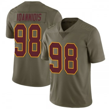 Youth Nike Washington Redskins Matt Ioannidis Green 2017 Salute to Service Jersey - Limited