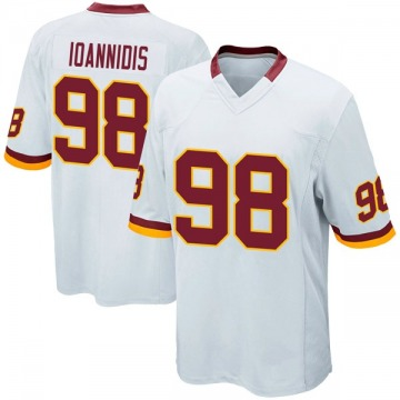 Youth Nike Washington Redskins Matt Ioannidis White Jersey - Game