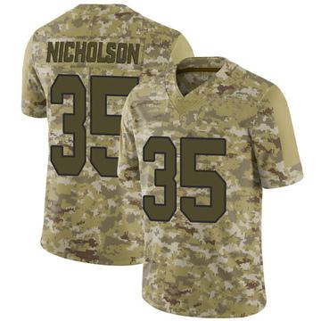 Youth Nike Washington Redskins Montae Nicholson Camo 2018 Salute to Service Jersey - Limited