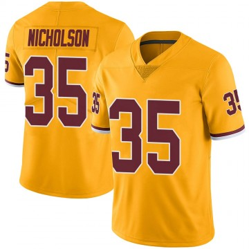 Youth Nike Washington Redskins Montae Nicholson Gold Color Rush Jersey - Limited