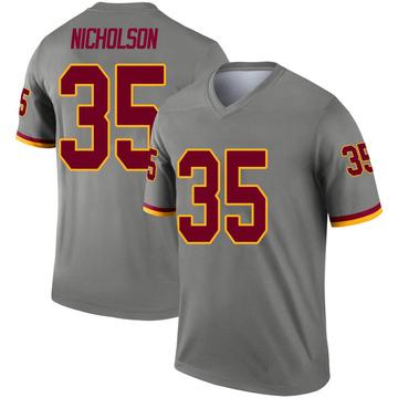 Youth Nike Washington Redskins Montae Nicholson Gray Inverted Jersey - Legend