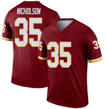 Youth Nike Washington Redskins Montae Nicholson Inverted Burgundy Jersey - Legend