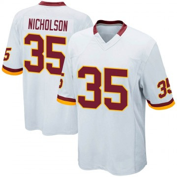 Youth Nike Washington Redskins Montae Nicholson White Jersey - Game