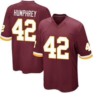 Youth Nike Washington Redskins Myles Humphrey Burgundy Team Color Jersey - Game
