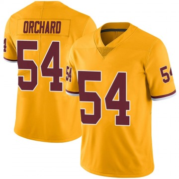 Youth Nike Washington Redskins Nate Orchard Gold Color Rush Jersey - Limited