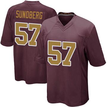 Youth Nike Washington Redskins Nick Sundberg Burgundy Alternate Jersey - Game