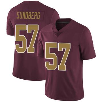 Youth Nike Washington Redskins Nick Sundberg Burgundy Alternate Vapor Untouchable Jersey - Limited