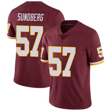 Youth Nike Washington Redskins Nick Sundberg Burgundy Team Color Vapor Untouchable Jersey - Limited