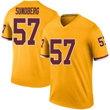 Youth Nike Washington Redskins Nick Sundberg Gold Color Rush Jersey - Legend
