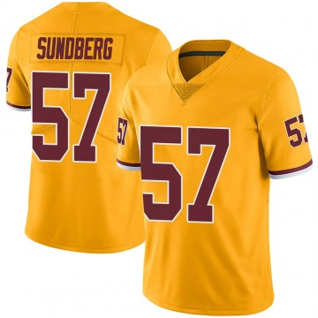Youth Nike Washington Redskins Nick Sundberg Gold Color Rush Jersey - Limited