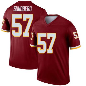 Youth Nike Washington Redskins Nick Sundberg Inverted Burgundy Jersey - Legend