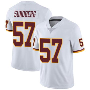 Youth Nike Washington Redskins Nick Sundberg White Vapor Untouchable Jersey - Limited