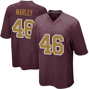 Youth Nike Washington Redskins Nico Marley Burgundy Alternate Jersey - Game