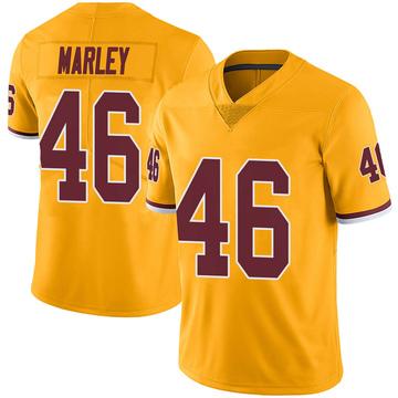 Youth Nike Washington Redskins Nico Marley Gold Color Rush Jersey - Limited