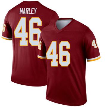Youth Nike Washington Redskins Nico Marley Inverted Burgundy Jersey - Legend