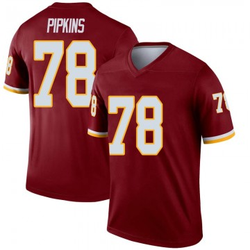 Youth Nike Washington Redskins Ondre Pipkins Inverted Burgundy Jersey - Legend