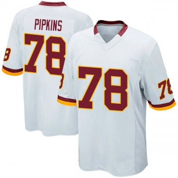 Youth Nike Washington Redskins Ondre Pipkins White Jersey - Game