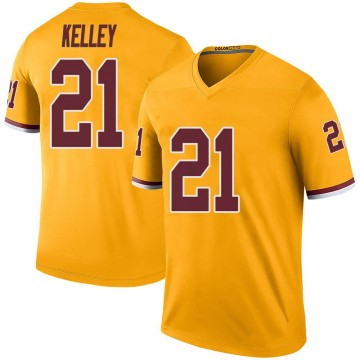 Youth Nike Washington Redskins Rob Kelley Gold Color Rush Jersey - Legend