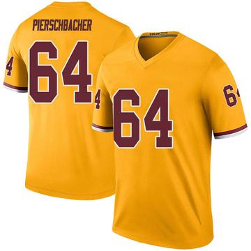 Youth Nike Washington Redskins Ross Pierschbacher Gold Color Rush Jersey - Legend