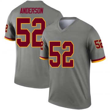 Youth Nike Washington Redskins Ryan Anderson Gray Inverted Jersey - Legend