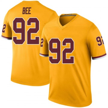 Youth Nike Washington Redskins Ryan Bee Gold Color Rush Jersey - Legend