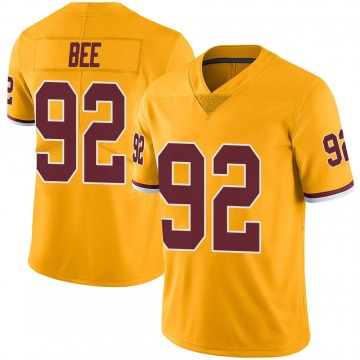 Youth Nike Washington Redskins Ryan Bee Gold Color Rush Jersey - Limited