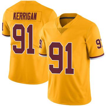 Youth Nike Washington Redskins Ryan Kerrigan Gold Color Rush Jersey - Limited