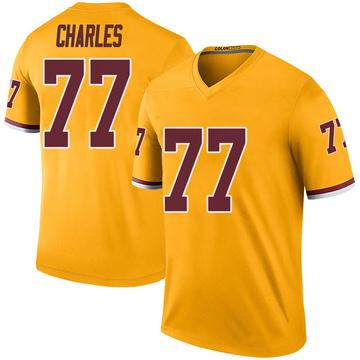 Youth Nike Washington Redskins Saahdiq Charles Gold Color Rush Jersey - Legend