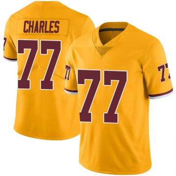 Youth Nike Washington Redskins Saahdiq Charles Gold Color Rush Jersey - Limited