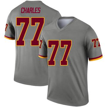 Youth Nike Washington Redskins Saahdiq Charles Gray Inverted Jersey - Legend