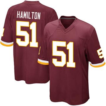 Youth Nike Washington Redskins Shaun Dion Hamilton Burgundy Team Color Jersey - Game