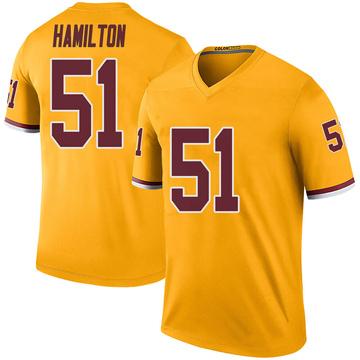 Youth Nike Washington Redskins Shaun Dion Hamilton Gold Color Rush Jersey - Legend