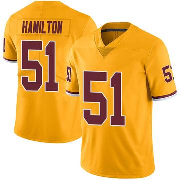 Youth Nike Washington Redskins Shaun Dion Hamilton Gold Color Rush Jersey - Limited