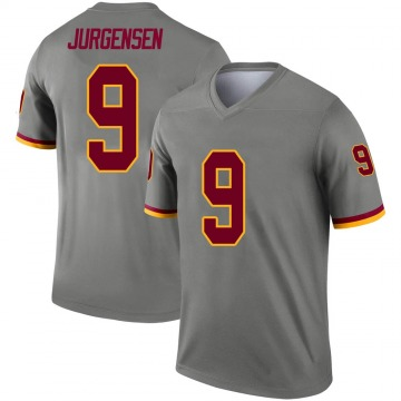 Youth Nike Washington Redskins Sonny Jurgensen Gray Inverted Jersey - Legend