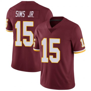 Youth Nike Washington Redskins Steven Sims Jr. Burgundy 100th Vapor Jersey - Limited