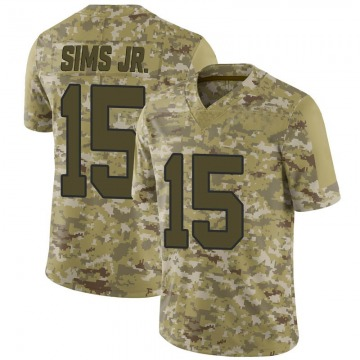 Youth Nike Washington Redskins Steven Sims Jr. Camo 2018 Salute to Service Jersey - Limited