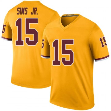 Youth Nike Washington Redskins Steven Sims Jr. Gold Color Rush Jersey - Legend